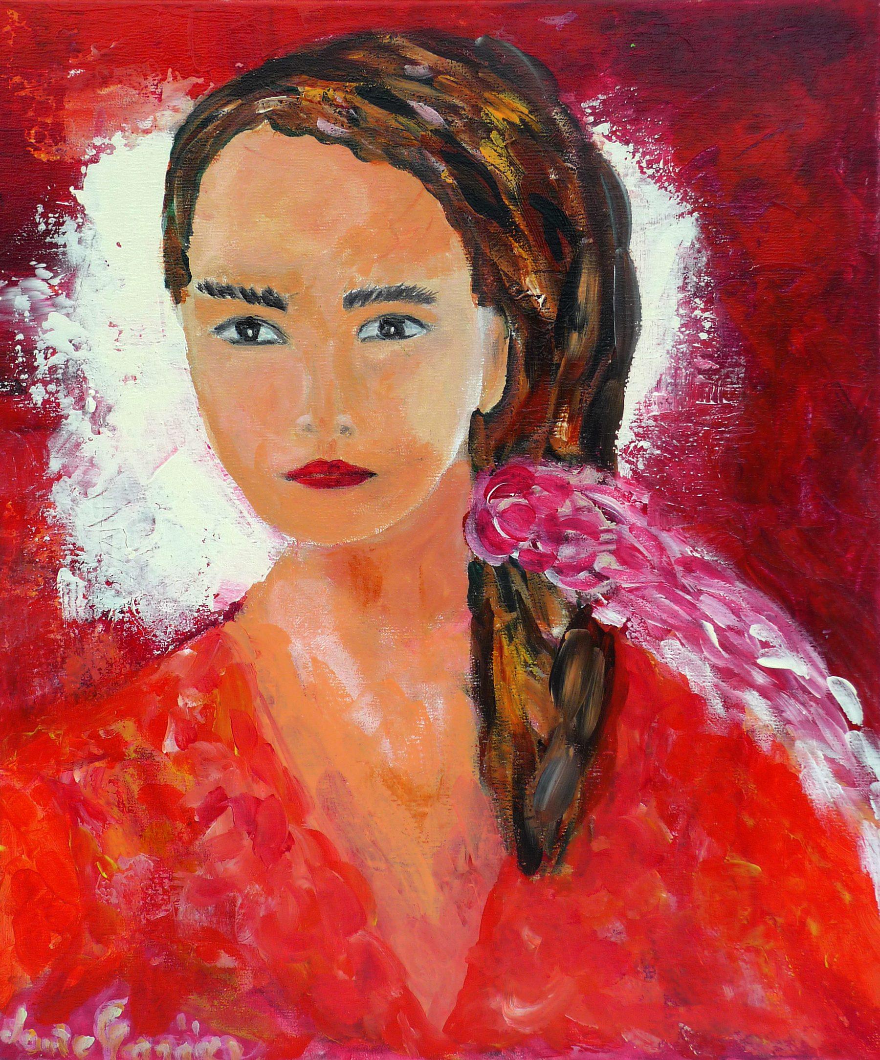 Femme à la blouse rouge