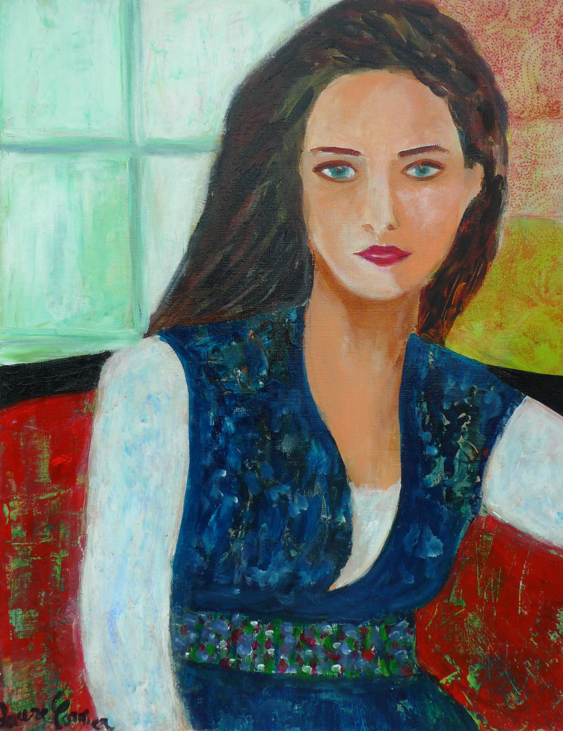 Portrait au canapé